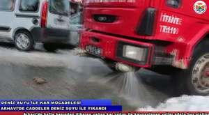 Arhavi Belediyesi Deniz Suyu İle Kar Mücadelesi / www.arhavi.bel.tr