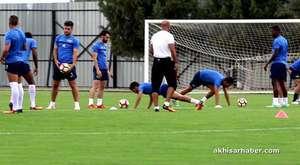 Akhisarspor yeni teknik direktör Tolunay Kafkas ile ilk idmanına çıktı