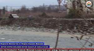 Arhavi Kapisre Deresi üstüne 3. Köprü Çalışmaları / www.arhavi.bel.tr