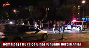 Kemalpaşa HDP İlçe Binası Önünde Gerginlik